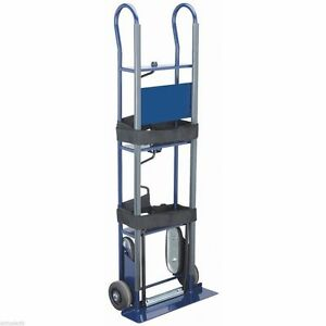 600lb Appliance Dolly Stair Climbing Moving Hand Truck Warehouse Cart W Strap