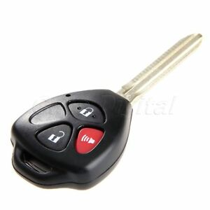 Uncut Blade 3 Buttons Remote Key Fob Keyless Entry Shell Case For Toyota Rav4