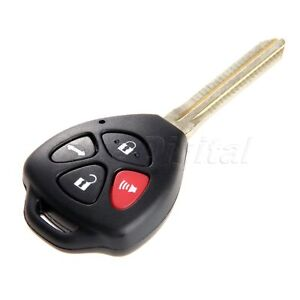 Uncut Blank Key Fob Shell Case For Toyota Camry Venza 4 Buttons Replacement