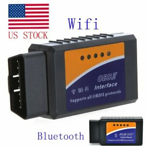 Elm327 Wifi Or Bluetooth Obd2 Obdii Car Diagnostic Scanner Code Reader Tool Kits
