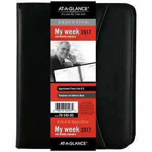 At a glance Weekly Monthly Appointment Book Planner 2017 6 5 8 X 8 3 4