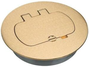 Carlon E97brr Duplex gfci Round Floor Box Cover Kit Brass