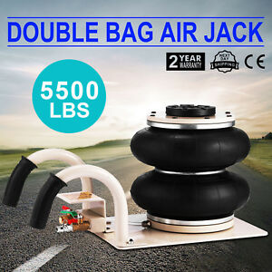 2 5 Ton Double Bag Air Jack Pneumatic Jack Lifting Heavy Duty Lift Jack 5500lbs