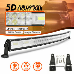52 Inch 1560w Led 5d Curved Work Light Bar Combo Driving Offroad Lamp Car Truck
