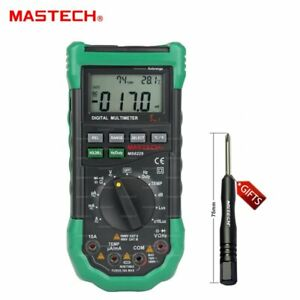 Ms8229 Auto Digital Multimeter Lux Noise Sound Light Temperature Humidity Tester