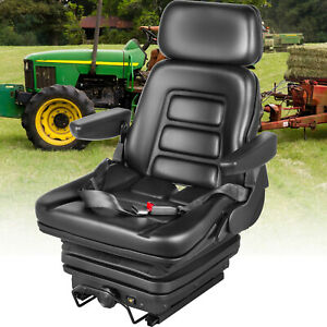 Suspension Seat Tractor Foldable Excavator Dozers Wheel Loaders With Seat Belt