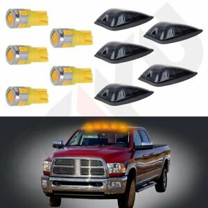 5x Cab Marker Light Smoke 264159bk t10 Warm White Led For Gmc chevy C1500 3500