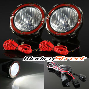 2pc 7 55w Hid Offroad Driving Flood Lights Work Search Outdoor Lamps Switch