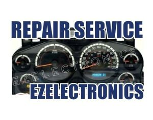 2007 To 2014 Gm Gmc Chevy Truck Instrument Cluster Repair Service display