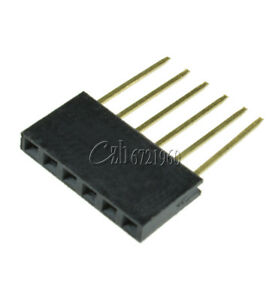10pcs 6 Pin Single Row Stackable Shield Female Header 2 54mm Pitch For Arduino