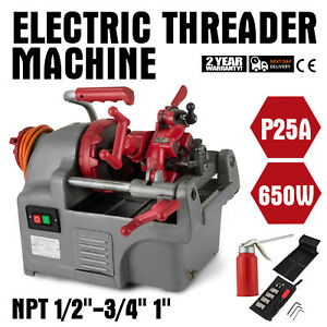 Electric Pipe Threader Threading Machine 1 2 1 Multi functional 110v Die Head