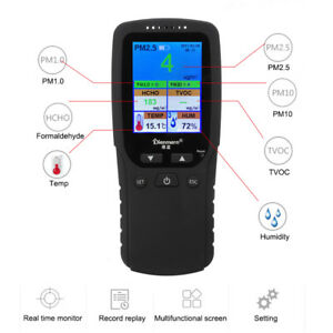 7in1 Professional Formaldehyde Detector Hcho Tvoc Pm2 5 Pm10 Air Quality Monitor