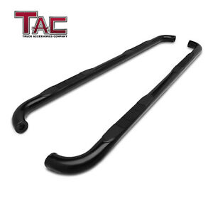 For 2009 2018 Dodge Ram 1500 Crew Cab Truck 3 Black Side Step Rails Nerf Bars