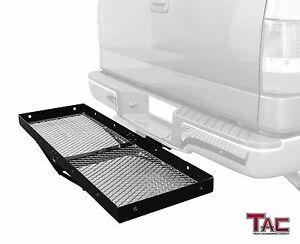 Tac Hitch Basket Cargo Rack Black Fits 2inch Receiver Style Hitch