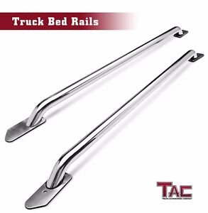 Tac 6 5 Side Bed Rails S s For 2014 2019 Chevy Silverado 1500 gmc Sierra 1500