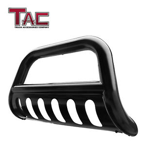 For 2005 2021 Nissan Frontier 3 Black Bull Bar Brush Grille Guard Front Bumper
