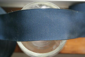 2 Yards 2 1 4 Wide Vintage Grosgrain Midnight Navy Blue Ribbon Hat Band Dress