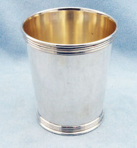 Vintage Sterling Silver Mint Julep Cup By Trees No Monograms