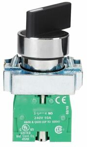 Dayton Non illuminated Selector Switch Size 22mm Position 3 Action