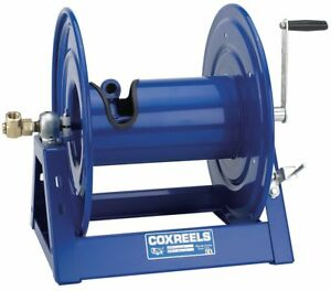 Coxreels 100 Ft Heavy Duty Air Water Oil Pressure Washer Hand Crank Hose