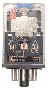 Omron Plug In Relay 11 Pins Octal Base Type 10a 250vac 30vdc Contact