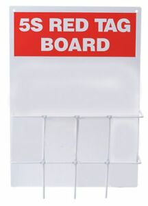 Brady Red Tag Binder Station Unfilled Polycarbonate Backboard With Wire Rack