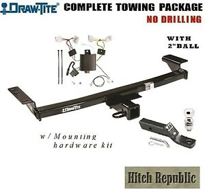 Class 3 Trailer Hitch Package W 2 Ball For 2009 2014 Nissan Murano 75647