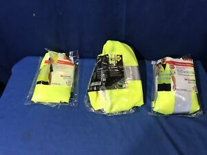 Lot Of 3m High visibility Yellow Class 2 3 Short Sleeve Construction Safety Vest