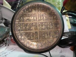 Antique Greek Kingdom Ancient Arts Hand Made Copperplate Wall Plaque 8 Rare