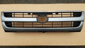 Fits 1997 2000 Toyota Tacoma 2wd Front Bumper Grille Upper Silver black New