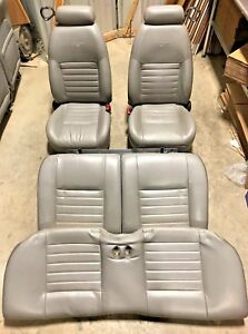 2001 2004 Ford Mustang Gt Gray Leather Seats Front Rear Complete Set