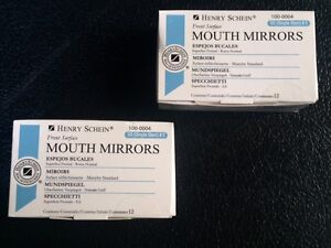 Dental Henry Schein Mouth Mirror Front Surface Simple Stem 5 Two Box 12 Each