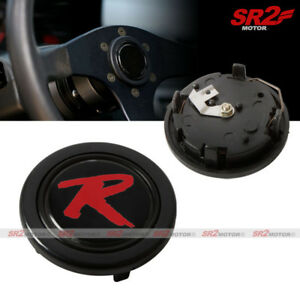 R Type Style Steering Wheel Hub Horn Button For Honda Acura Civic Rsx Crx S2000