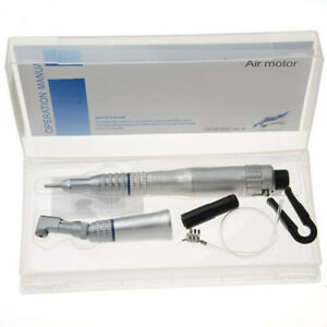 Dental Slow Low Speed Handpiece Set 2 Holes Contra Straight Nose Air Motor