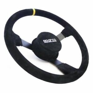 Sparco 015r330csn Nascar Steering Wheel Black 13 330mm Diameter Suede