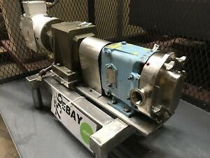 Waukesha 015 Rotary Positive Displacement Pump 1 5hp 3ph W Stober Gearbox