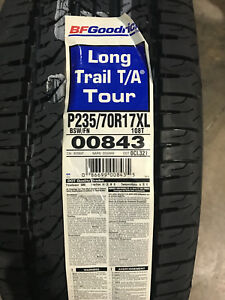 4 New 235 70 17 Bfgoodrich Long Trail T a Tour Tires