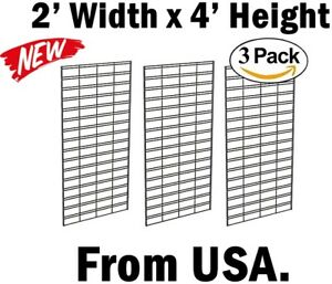 Slat Grid Retail Display Wall Panel Display Hanging Wire Rack Shop Photo Hanger
