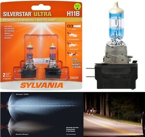 Sylvania Silverstar Ultra H11b 55w Two Bulbs Head Light Low Beam Replace Upgrade