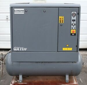 2005 Atlas Copco Gx11ff Rotary Screw Air Compressor Tank Dryer Only 12k Hrs
