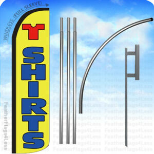 T shirts Windless Swooper Flag Kit Feather Banner Sign 15 Yz