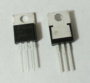 Mosfet N channel Unifet 200v 52a 49mohm To 220 Fairchild Fdp52n20 New 105pcs