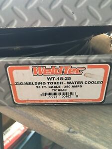 Weldtec Wt 18 25 25ft 350 Amp Water Cooled Tig Torch new Still In Box