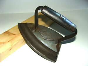 Antique Vintage Flat Iron Sad Cast Iron Clothes Iron 19th Century 7 Pound
