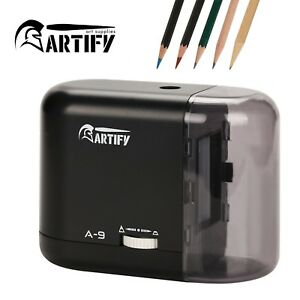 Artify Electric Pencil Sharpener auto Stop battery Or Ac Adapter Operated great