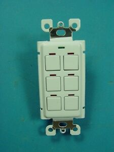 Lc d Lighting Controls Chelsea 6 Button Switch Nib White