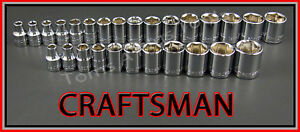 Craftsman Hand Tools 27pc Lot 3 8 6pt Sae Metric Mm Ratchet Wrench Socket Set