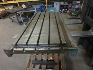 55 X 29 25 X 5 Steel Weld T slot Table Cast Iron Layout 5 Slot Jig