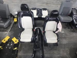 2015 2016 2017 Ford Mustang 50th Anniversary Front Rear Seat Set Heated Black