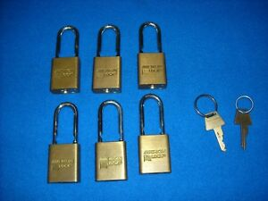 American Lock Padlock Model 5530 Reg 26 Lot Of 6